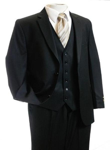 Mens 2 Button Style Liquid Jet Black Tone Suit, act now only $149.00