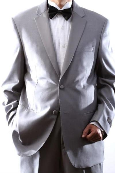 Mens 2 Button Style Superior 150s Light Grey ~ Gray Tuxedo, act now only $199.00
