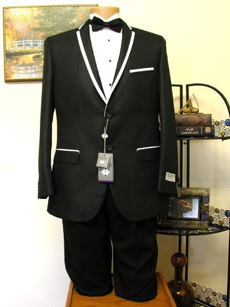 Mens 2 Button Style Trimmed Lapel formal tux Jacket and Pant, act now only $199.00
