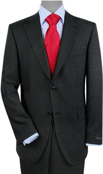 Mens 2 Buttons Style Vented Gray Sharkskin No Pleats Suit, act now only $175.00