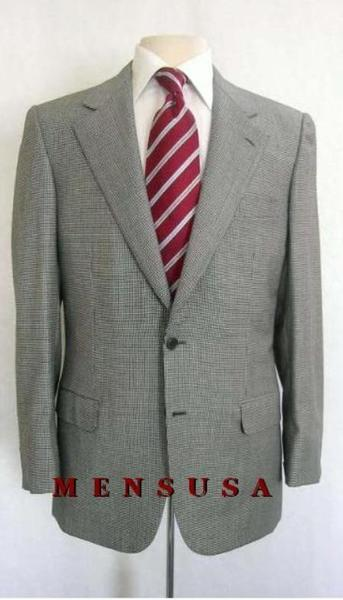 Mens 4 Colors Checker houndstooth fabric Checker Pattern Suit, act now only $165.00