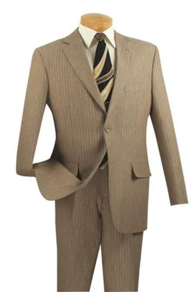 Mens Beige 2 Button Style Suits for Online, act now only $165.00