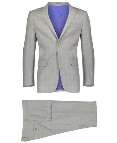 Mens Beige Two Button Style Window Pane Suit, act now only $149.00