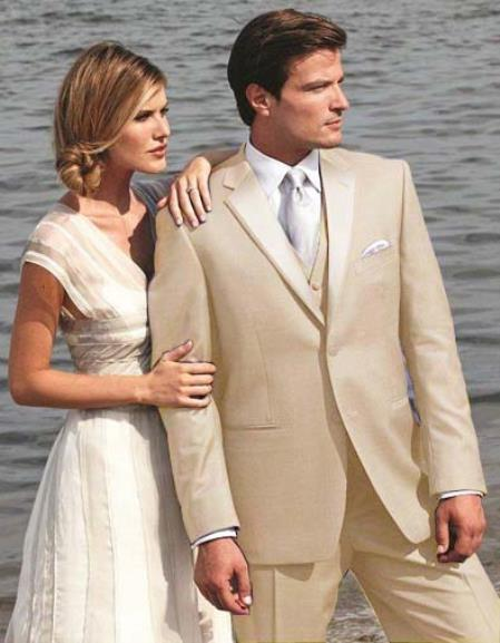 Mens Beige Two Button Tuxedo, act now only $495.00