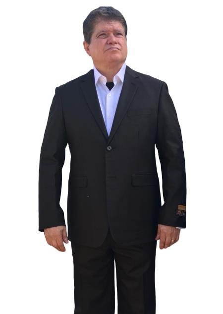 Mens Black Alberto Nardoni Side Vented Summer Fabric Suit, act now only $165.00