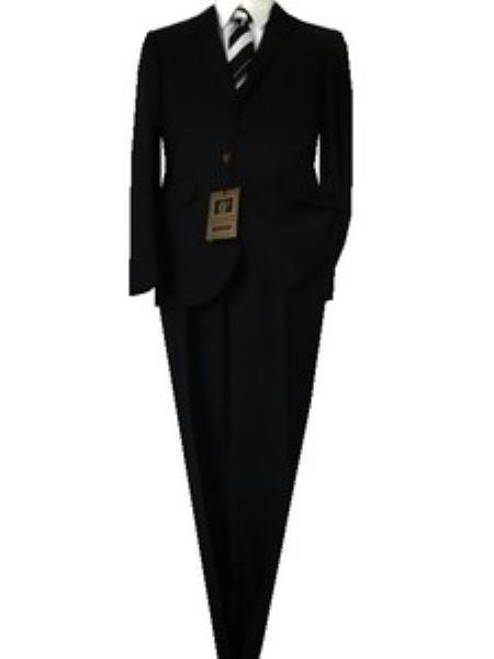 Mens Black Euro Slim narrow Style Solid Liquid Jet Suit, act now only $139.00