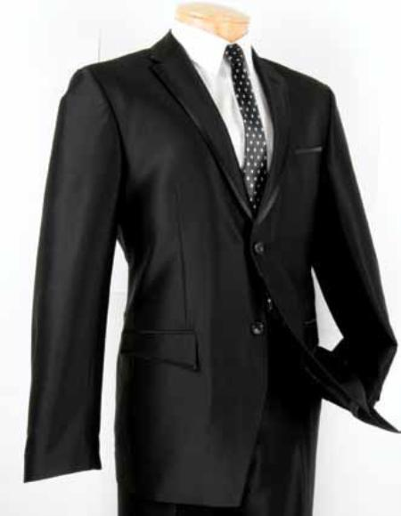 Mens Black Two Button Single Breasted Suit, act now only $139.00