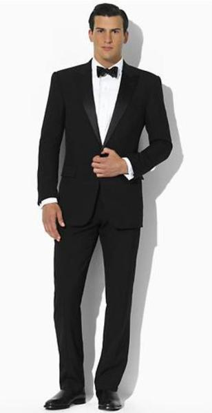 Mens Black Two Button Slim narrow Style Fit Tuxedo, act now only $275.00