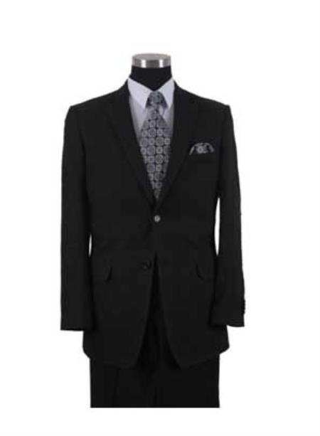 Mens Black Two Button Style Linen Fabric Summer Suit, act now only $175.00