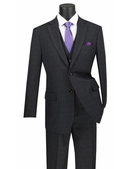 Mens Black Two Button Style Suit, act now only $175.00