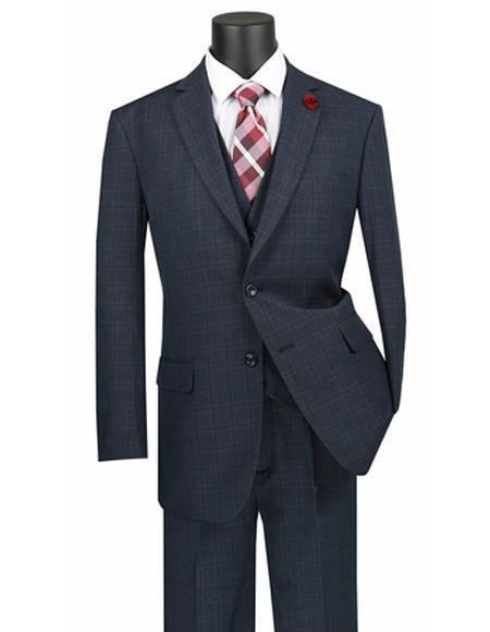 Mens Blue Two Button STyle WindowPane Suit (CHECK COLOR), act now only $149.00