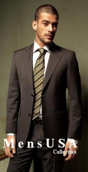 Mens Brown color shade Small Shadow tone on tone Stripe Suit, act now only $169.00