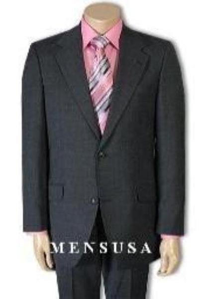 Mens Charcoal Gray Two Button Jacket Paired With Slim narrow Trousers, act now only $159.00