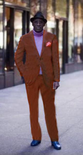 Mens Copper Two Button Style Rust Suit, act now only $175.00