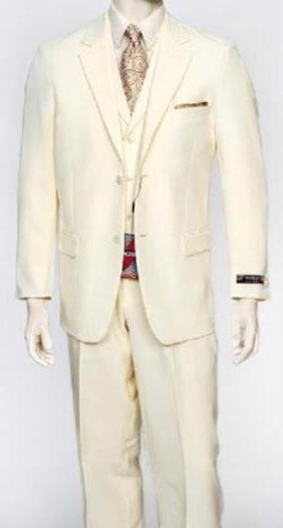 Mens Cream Two Button Style Single Breasted Suit, act now only $159.00