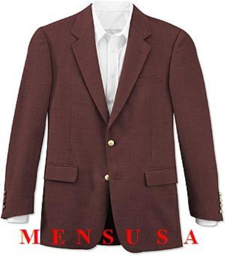 Mens Dark Burgundy Two Button Style Fully Lined Suit, act now only $160.00