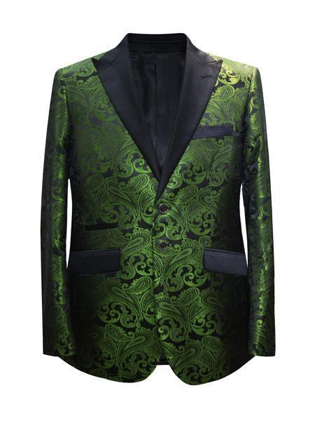 Mens Dark Green Hunter Two Button Style Suit, act now only $175.00