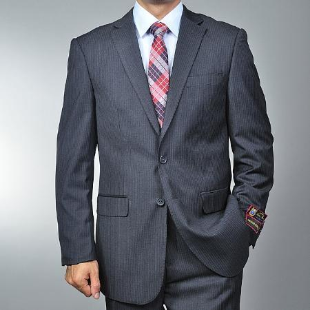 Mens Dark Grey Masculine color Grey 2-button Suit, act now only $135.00