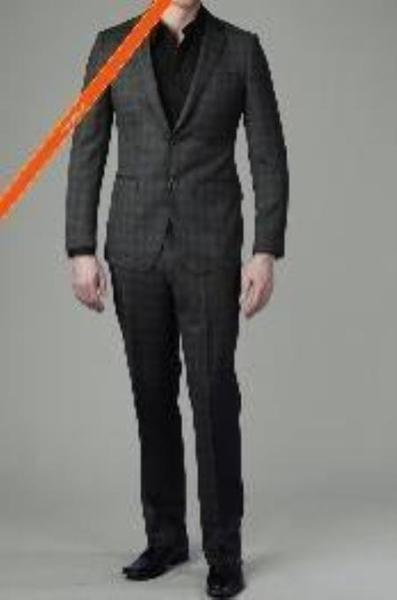 Mens Dark Grey Two Button Slim narrow Style Suit, act now only $165.00
