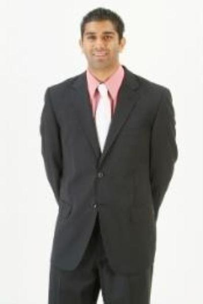 Mens Dark Liquid Jet Black Two Button Style Suit, act now only $199.00