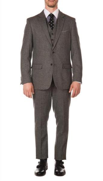 Mens Ferrecci York Grey Two Button Slim Narrow Fit Suit, act now only $149.00