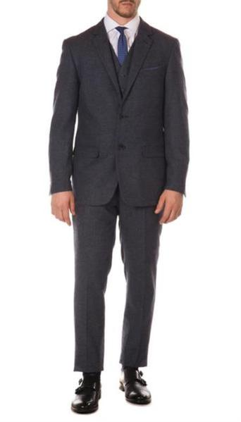 Mens Ferrecci York Navy Slim Fit Herringbone Suit, act now only $149.00