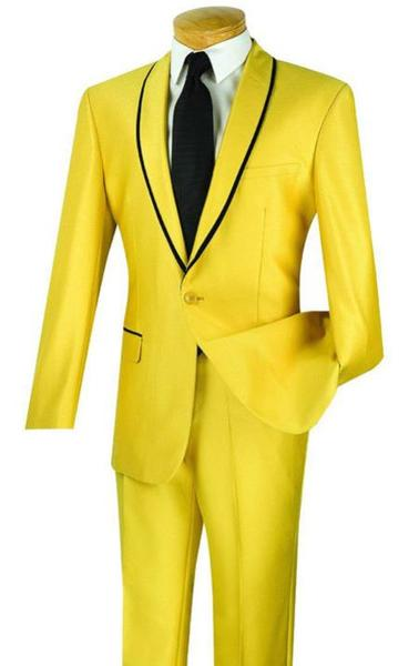 Mens Gold With Liquid Jet Black Lapel suit, act now only $150.00