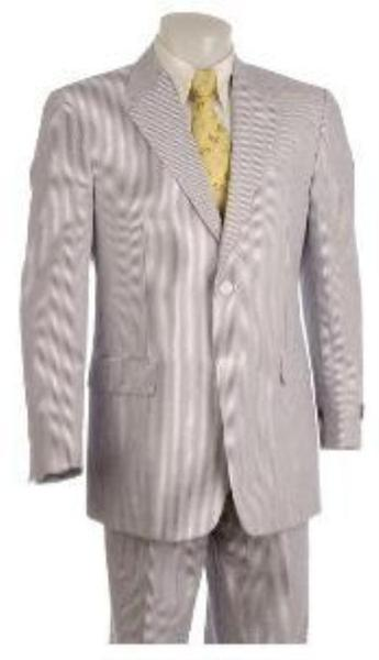 Mens Gray and Black Two Button Style Suit, act now only $160.00