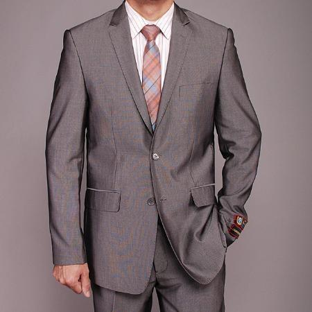 Mens Gray Nailhead 2-Button Slim-fit Suit, act now only $139.00