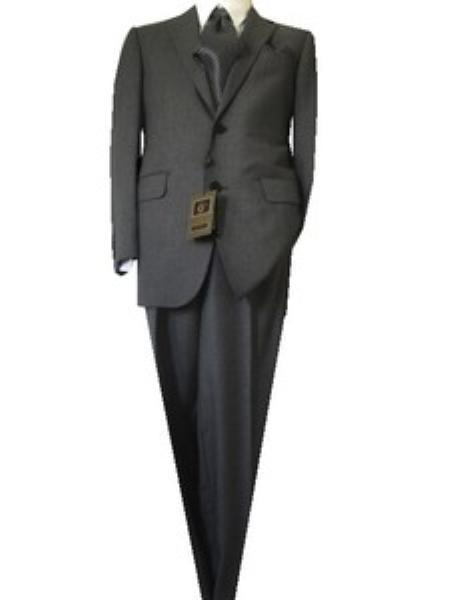Mens Gray Two Button Slim Narrow Fit Nailhead Suit, act now only $139.00