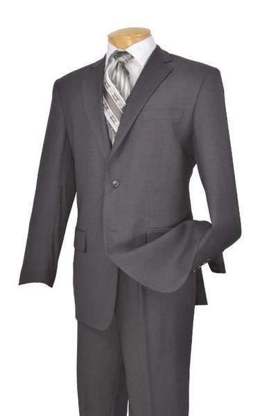 Mens Gray Two Button Style Poly Rayon Suit, act now only $109.00