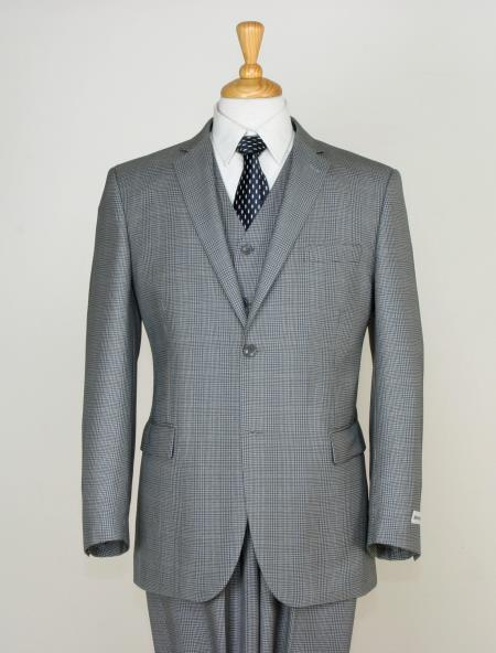 Mens Gray Two Button Style Slim Narrow Fit Suit, act now only $189.00