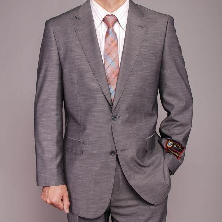 Mens Gray Two Button Style Suit, act now only $149.00