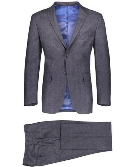 Mens Gray Two Button Style Window Pane Suit, act now only $149.00