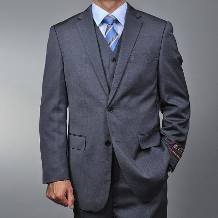 Mens Grey Teakweave Two Button Style Suit, act now only $149.00