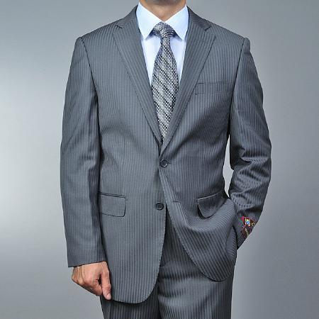 Mens Grey Tonal Shadow Two Button Style Suit, act now only $139.00