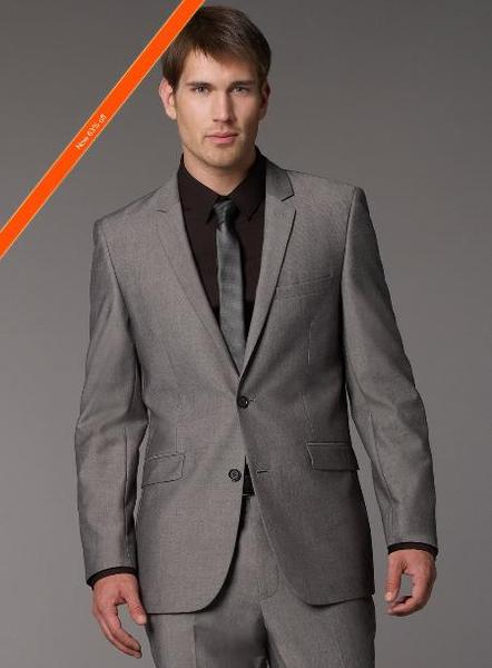 Mens Grey Tonic Slim narrow Style Fit Suit, act now only $139.00