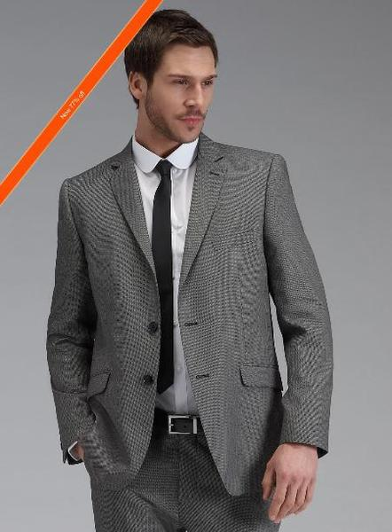 Mens Grey Two Button Slim narrow Style Fit Suit, act now only $139.00