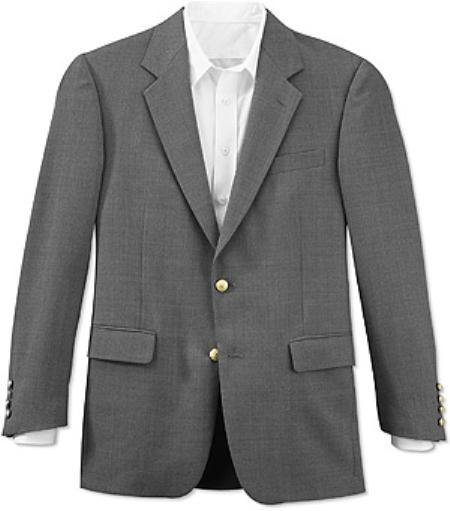 Mens Grey Two Button Style Fully Lined Suit, act now only $175.00