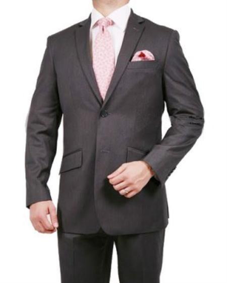 Mens Grey Two Button Style Pinstripe Suit, act now only $139.00