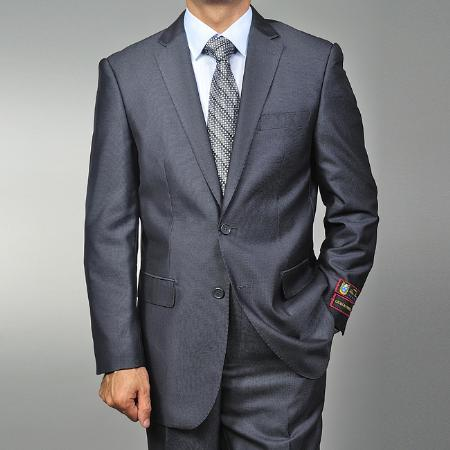 Mens Grey Two Button Style Teak Weave Suit, act now only $139.00