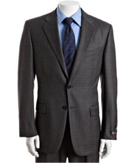 Mens Grey Two Button Style Wool Fabric Suit, act now only $125.00