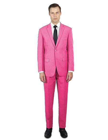 Mens Hot Pink Festive Alberto Nardoni Best Stylish Young Online Suit, act now only $139.00