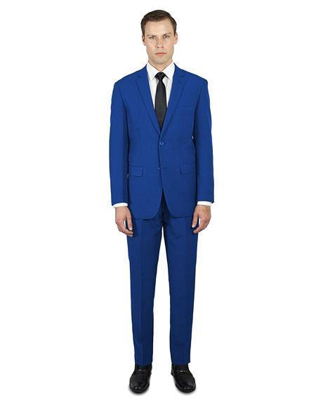 Mens Indigo  Festive Alberto Nardoni Best Stylish Young Online Suit, act now only $139.00