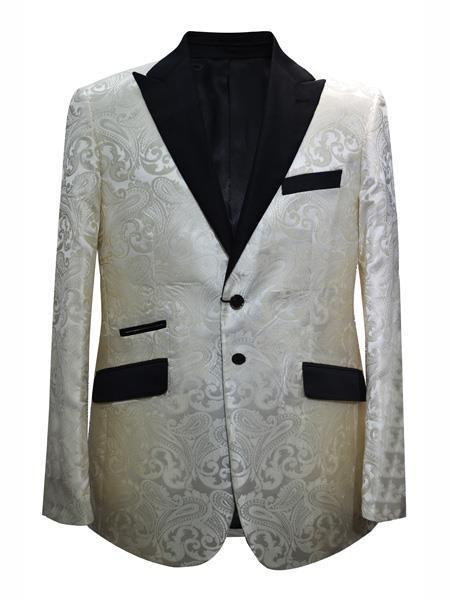 Mens Ivory Cream Two Button Style Suit, act now only $175.00