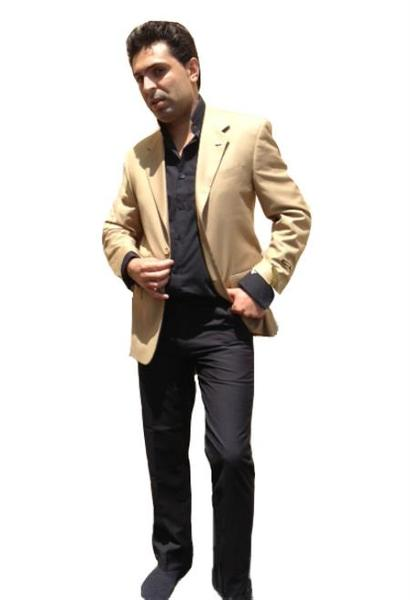 Mens Khaki Two Button Blazer Online Sale, act now only $139.00