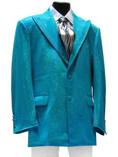 Mens Light Blue Peak Lapel Jacket + Pants, act now only $189.00