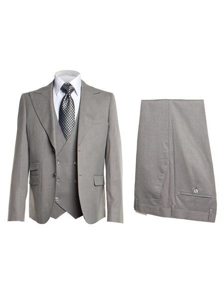 Mens Light Grey Two Button Style SIngle Breasted Suit, act now only $175.00
