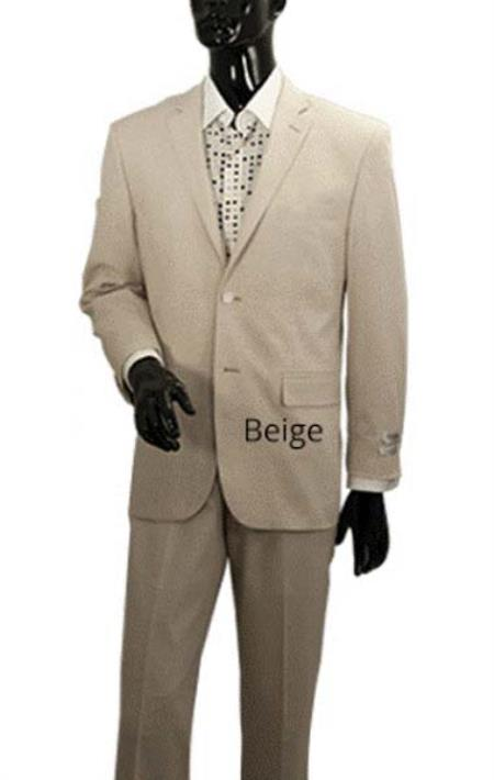 Mens Light Tan Two Button Style Linen Summer Suit, act now only $199.00