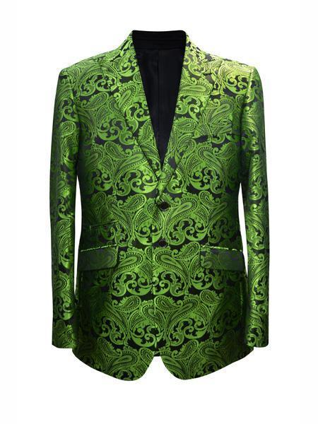 Mens Lime Green Two button Style Suit, act now only $175.00